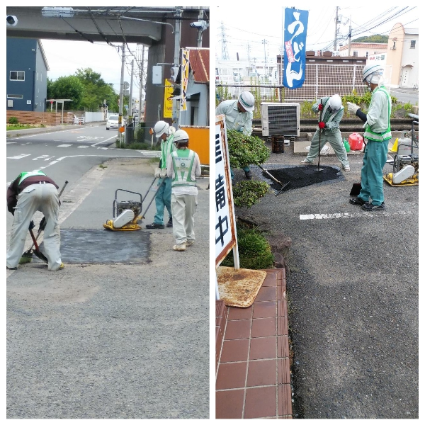舗装の補修